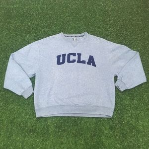 UCLA Embroidered Grey Crewneck Sweater